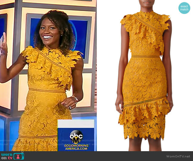 Reine Sheath Dress by Saylor worn by Janai Norman  on Good Morning America