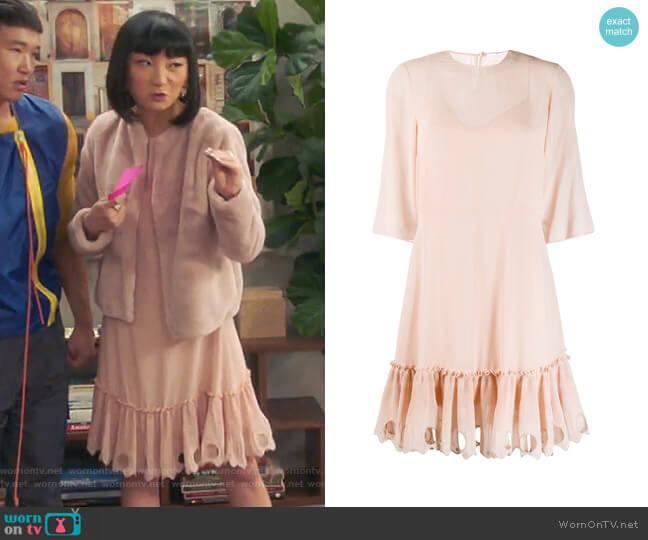 Ruffled Hem Dress by See by Chloe worn by Mei Lin (Poppy Liu) on Sunnyside