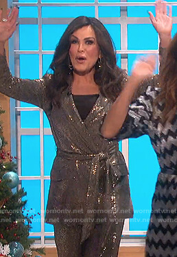 Marie's sequin blazer and pants on The Talk