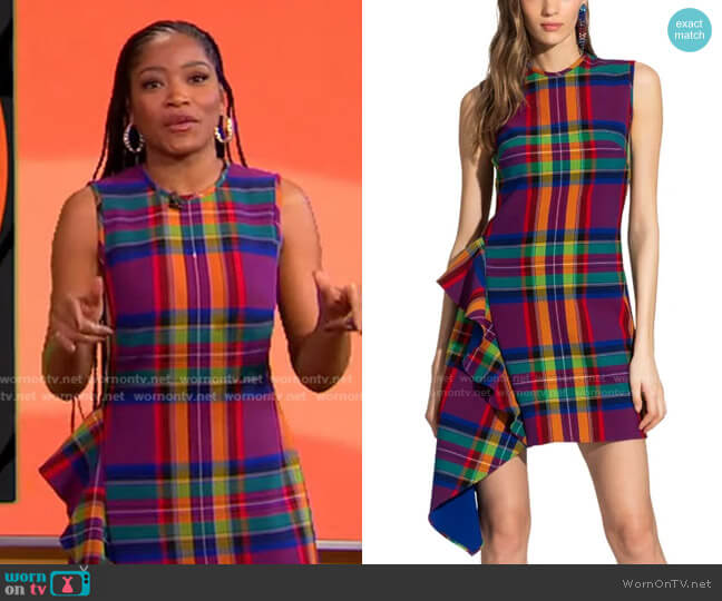 Maura Dress by Shoshanna worn by Keke Palmer  on Good Morning America