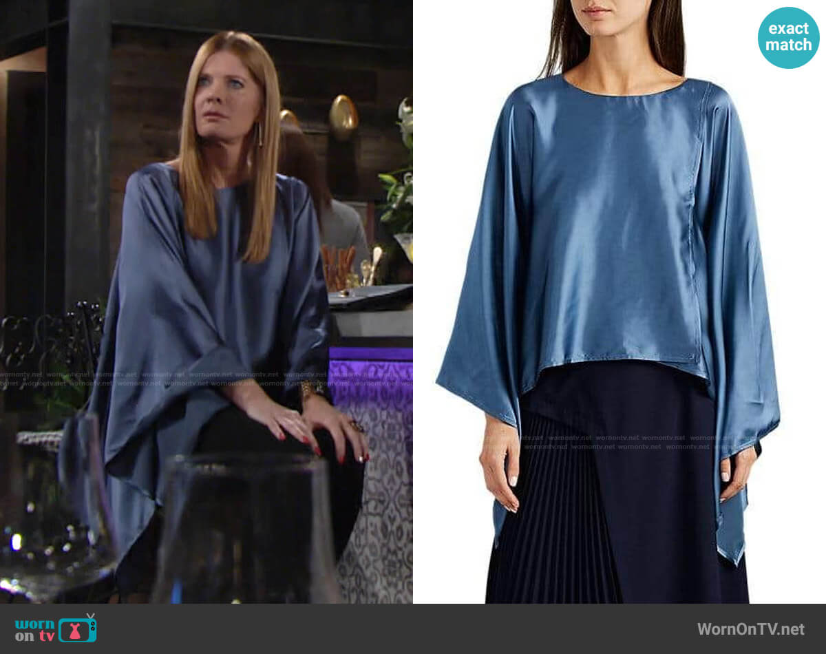Sies Marjan Jade Blouse worn by Phyllis Summers (Michelle Stafford) on The Young & the Restless