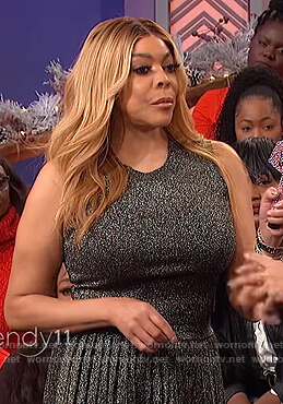 Wendy's metallic top and skirt on The Wendy Williams Show