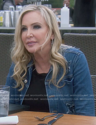 Shannon's star denim jacket on The Real Housewives of Orange County
