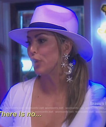 Kelly's star embellished drop earrings on The Real Housewives of Orange County