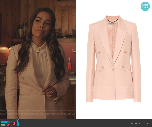 Beaufort Jacket by Stella McCartney worn by Cristal Jennings (Daniella Alonso) on Dynasty