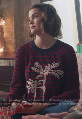 Callie's stripe palm sweater on Good Trouble