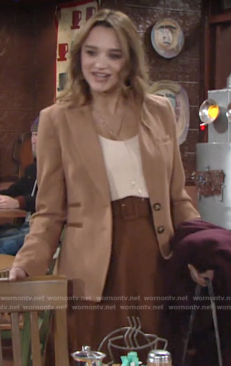 Summer's tan blazer on The Young and the Restless