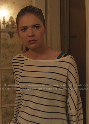 Tami's white striped sweater on Shameless