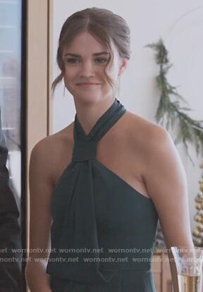 Callie's green halter neck dress on Good Trouble