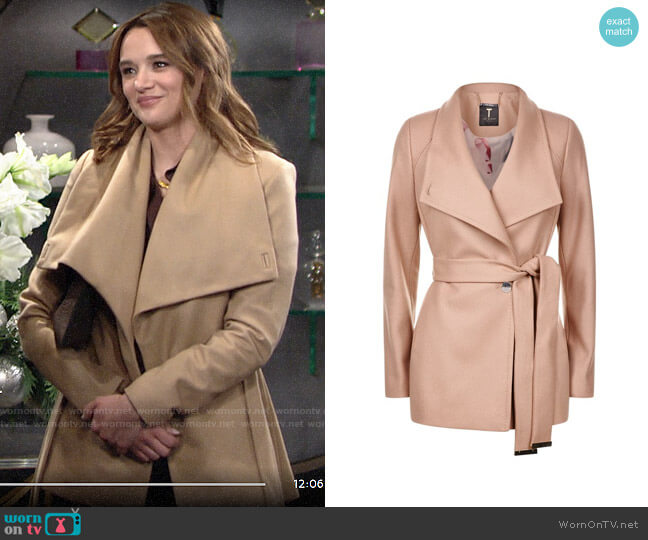 Ted Baker Elethea Coat worn by Summer Newman (Hunter King) on The Young & the Restless