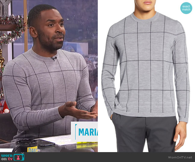 Malio Sweater by Theory worn by Justin Sylvester  on E! News
