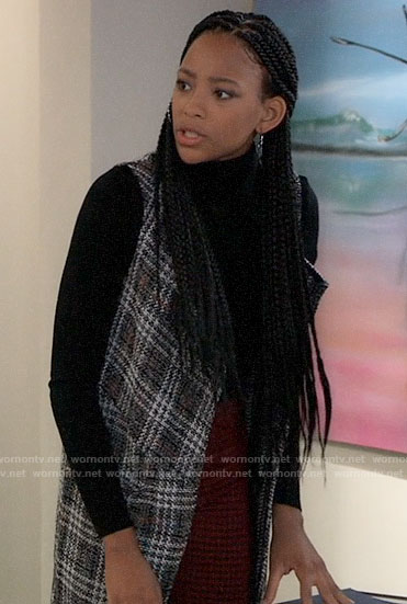 Trina's plaid vest on General Hospital
