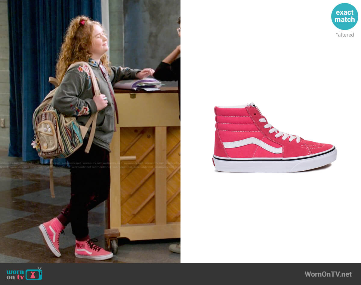 Vans Pink Sk8-Hi Sneakers worn by Ashlyn (Julia Lester) on High School Musical The Musical The Series