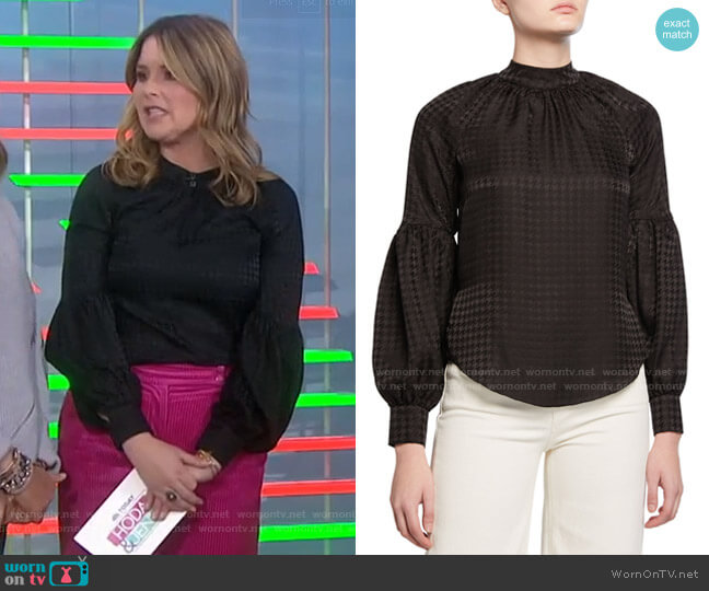 Cicley Top by Veronica Beard worn by Jenna Bush Hager  on Today