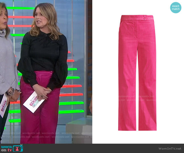 Damon Trouser by Veronica Beard worn by Jenna Bush Hager  on Today