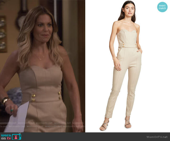 Joanna Jumpsuit by Veronica Beard worn by DJ Tanner-Fuller (Candace Cameron Bure) on Fuller House