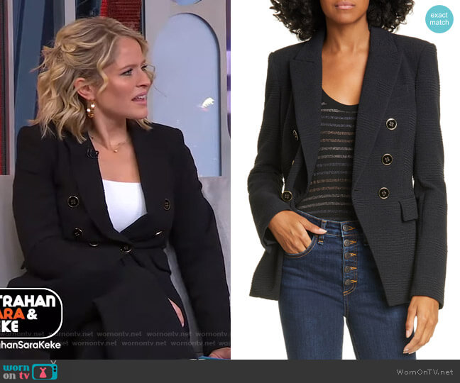 Miller Textured Dickey Jacket by Veronica Beard  worn by Sara Haines  on Good Morning America