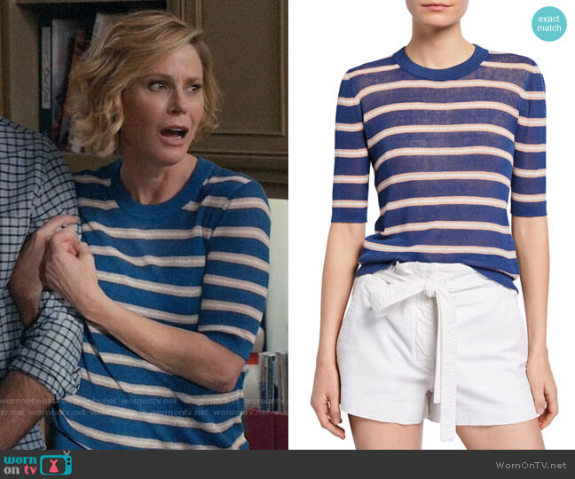 Veronica Beard Dean Striped Sweater worn by Claire Dunphy (Julie Bowen) on Modern Family