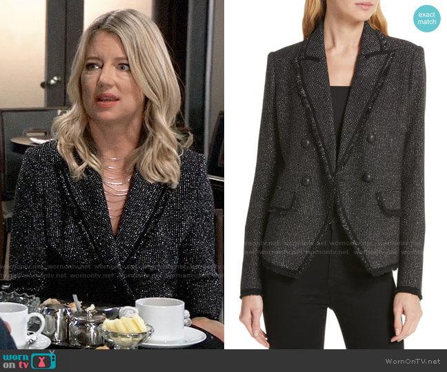 Veronica Beard Frisco Tweed Jacket worn by Nina Reeves (Cynthia Watros) on General Hospital