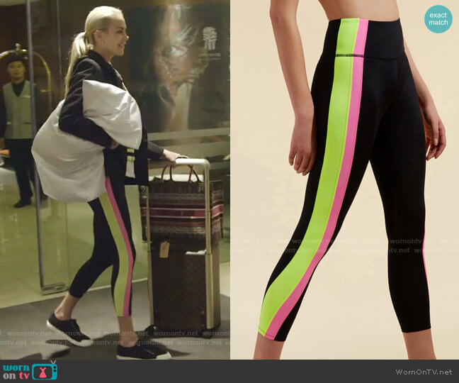 Ronda Capri Leggings by Veronica Beard x Bandier worn by Kameron Westcott  on The Real Housewives of Dallas
