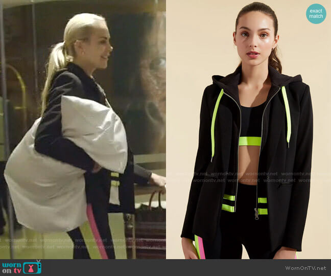 Billie Hoodie Dickey and Scuba Jacket by Veronica Beard x Bandier worn by Kameron Westcott  on The Real Housewives of Dallas