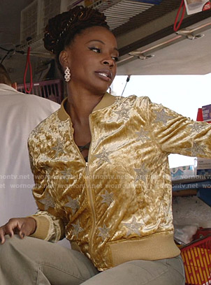 Debbie's leopard print denim jacket on Shameless