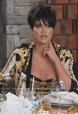 Khloe's printed bra on Keeping Up with the Kardashians