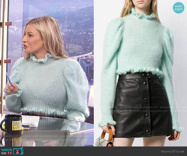 Cropped Long-Sleeve Top by Wandering worn by Morgan Stewart  on E! News