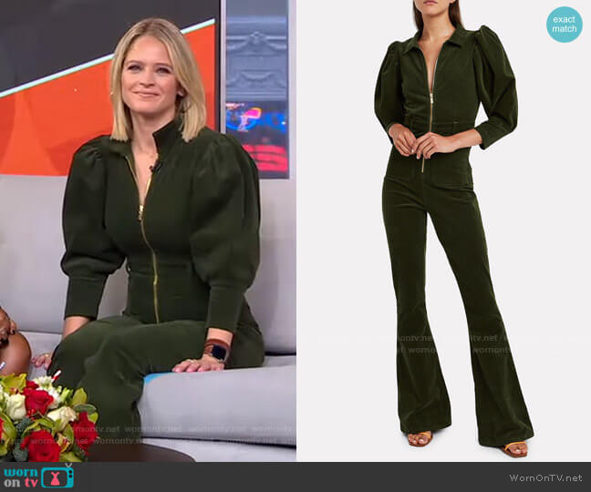 70'S Corduroy Jumpsuit by We Wore What worn by Sara Haines  on Good Morning America