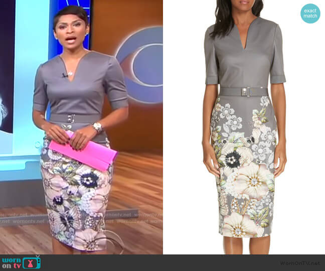 Wendala Gem Gardens Body-Con Dress worn by Jericka Duncan  on CBS This Morning