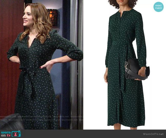 Whistles Sprinkle Print Shirt Dress worn by Summer Newman (Hunter King) on The Young & the Restless