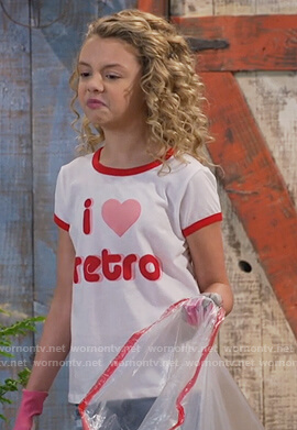Destiny's white Love Retro tee on Bunkd
