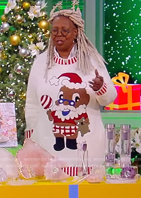 Whoopi's baby Santa sweater on The View
