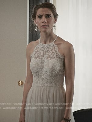Stevie's wedding dress on Madam Secretary