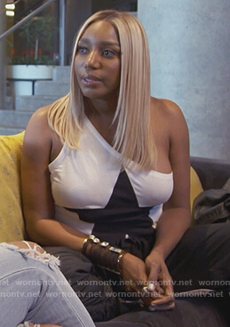 Nene's black star fringe top on The Real Housewives of Atlanta