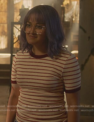 Gert's striped tee on Marvels Runaways