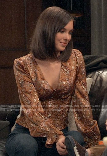Willow's paisley blouse on General Hospital
