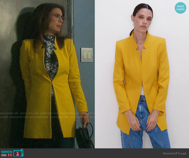Zara Inverted Lapel Frock Coat worn by Hope Williams (Kristian Alfonso) on Days of our Lives