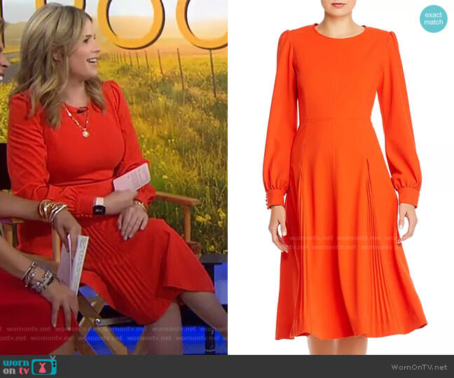 Knit Crepe Dress by Tory Burch worn by Jenna Bush Hager  on Today