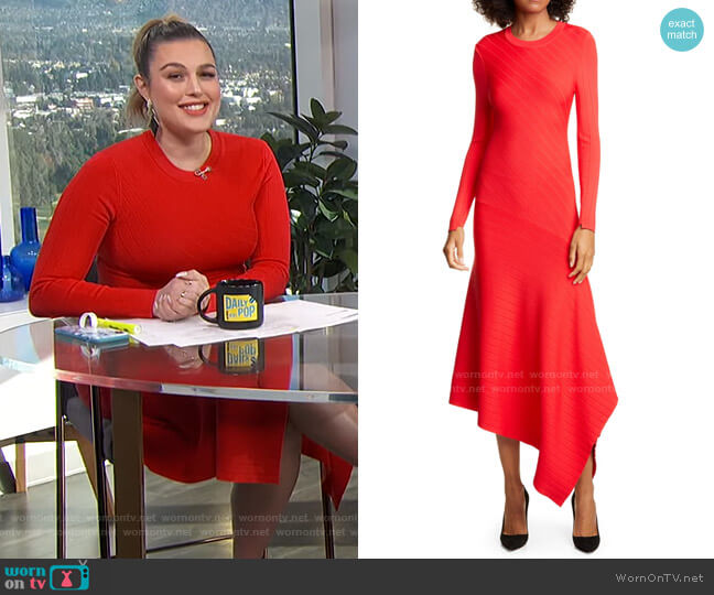 Viviana Dress by A.L.C. worn by Carissa Loethen Culiner  on E! News