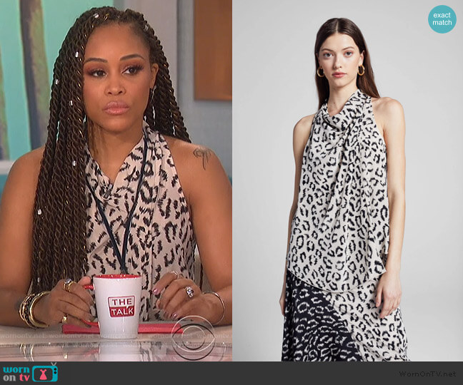 Ella Top by A.L.C. worn by Eve  on The Talk