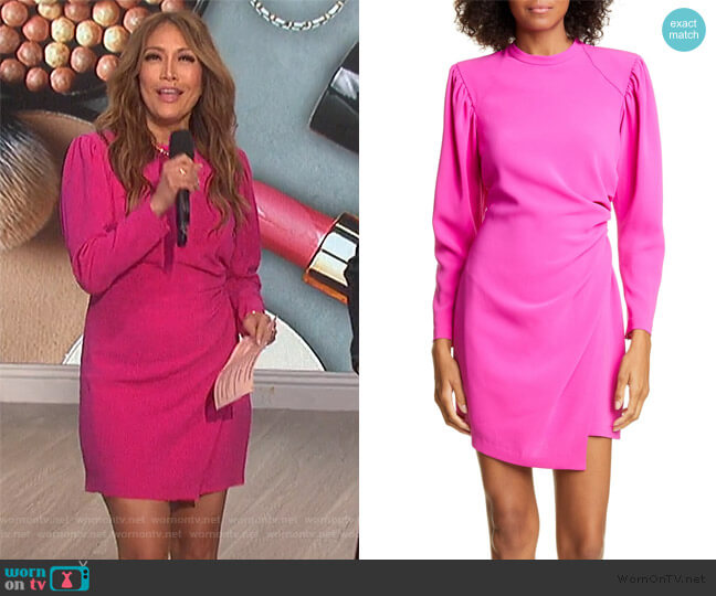 Jane Long Leg of Mutton Sleeve Minidress by A.L.C. worn by Carrie Inaba  on The Talk