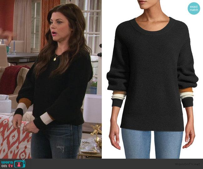 Jasper Colorblock-Cuffs Ribbed Cashmere-Blend Sweater by A.L.C. worn by Lori Mendoza (Tiffani Thiessen) on Alexa & Katie