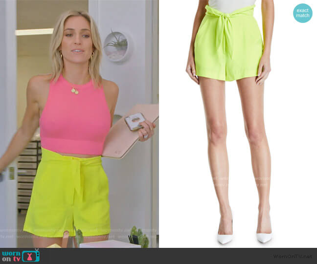 Kerry High-Waist Tie-Front Shorts by A.L.C. worn by Kristin Cavallari  on Very Cavallari
