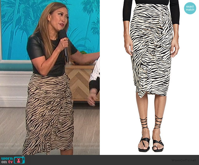 Metz Skirt by A.L.C. worn by Carrie Inaba  on The Talk