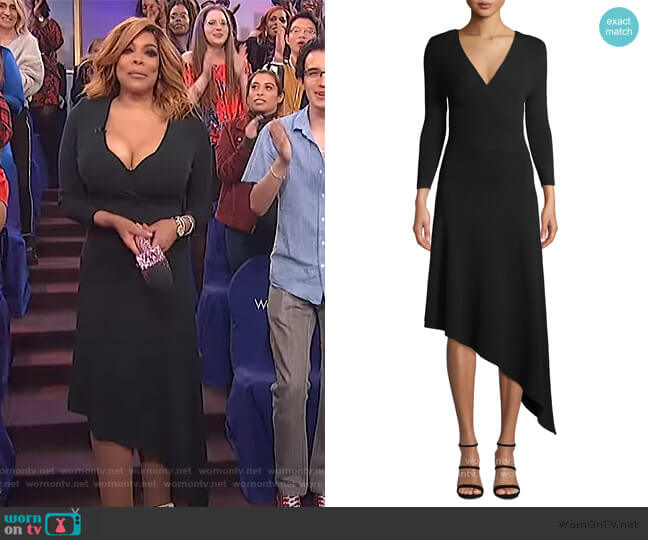 Morrow Asymmetrical Dress by A.L.C. worn by Wendy Williams  on The Wendy Williams Show