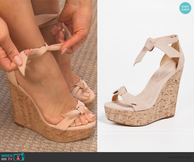 Clarita 120mm Wedges by Alexandre Birman worn by Melissa Gorga  on The Real Housewives of New Jersey