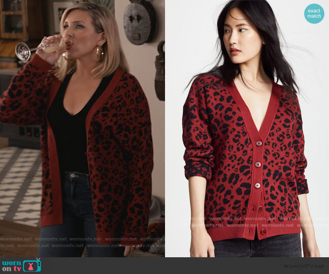Justine Cardigan by Anine Bing worn by Brianna (June Raphael) on Grace & Frankie