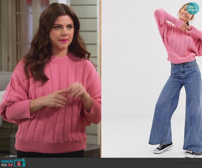 Chunky Sweater in Wide Rib by ASOS worn by Lori Mendoza (Tiffani Thiessen) on Alexa & Katie