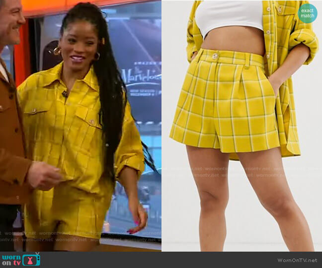 Check Suit Shorts by Asos worn by Keke Palmer  on Good Morning America